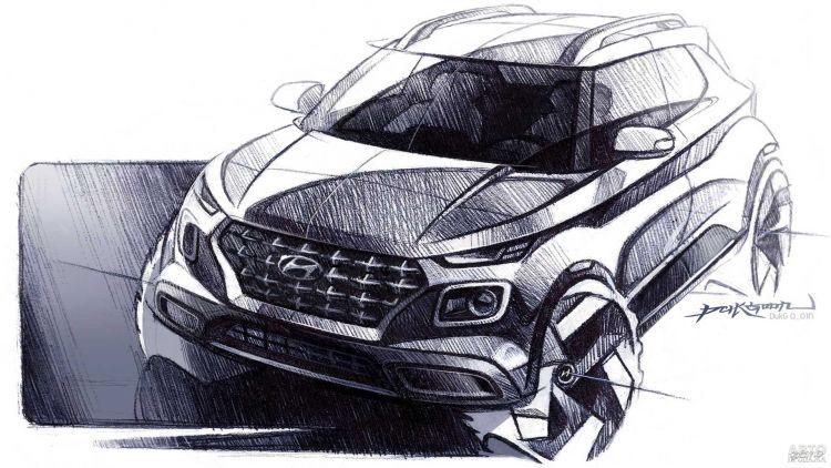Компактный вседорожник Hyundai частично рассекречен