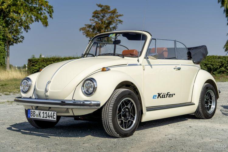 Старый Volkswagen Beetle превратили в электромобиль