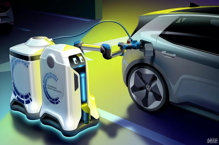 В Volkswagen разработали роботов для зарядки электромобилей