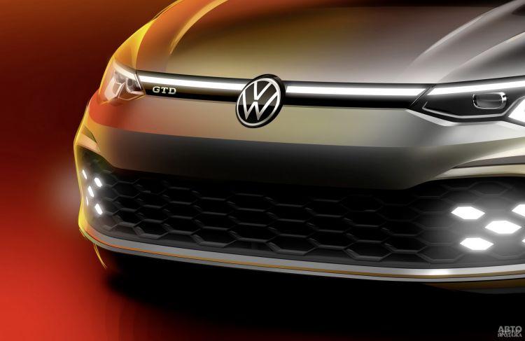 Новый Volkswagen Golf GTD представят в Женеве