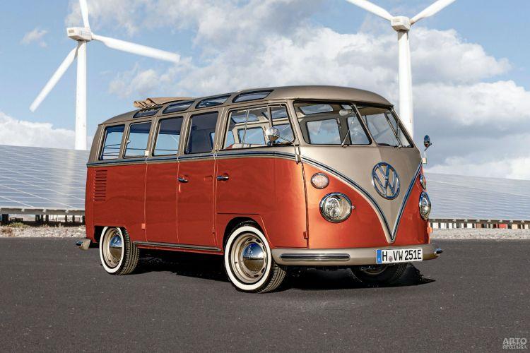 Культовый мини-вэн Volkswagen превратили в электромобиль