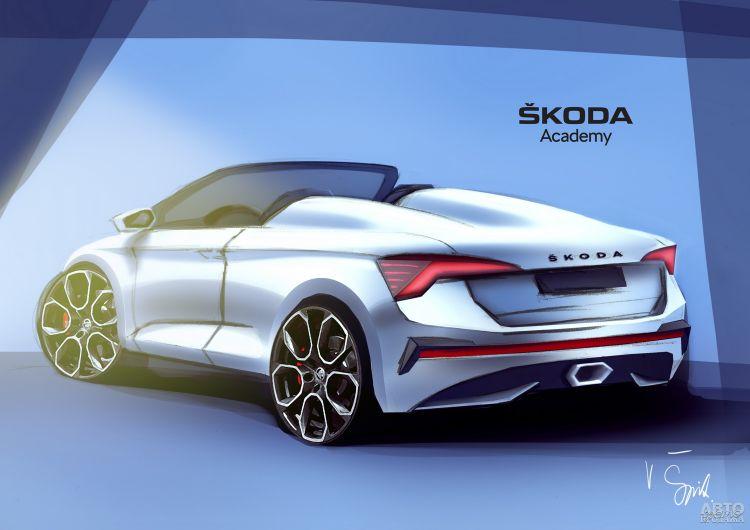 Skoda Scala превратят в кабриолет
