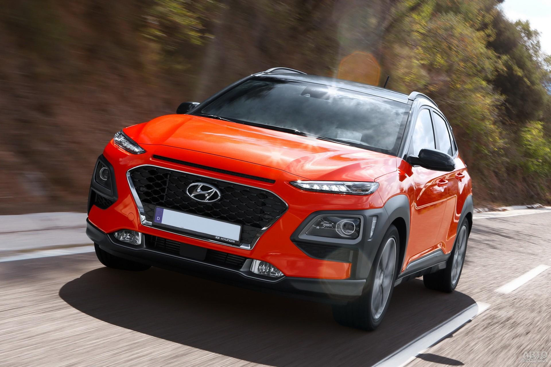 Hyundai_Kona привлекает «двухэтажной» оптикой