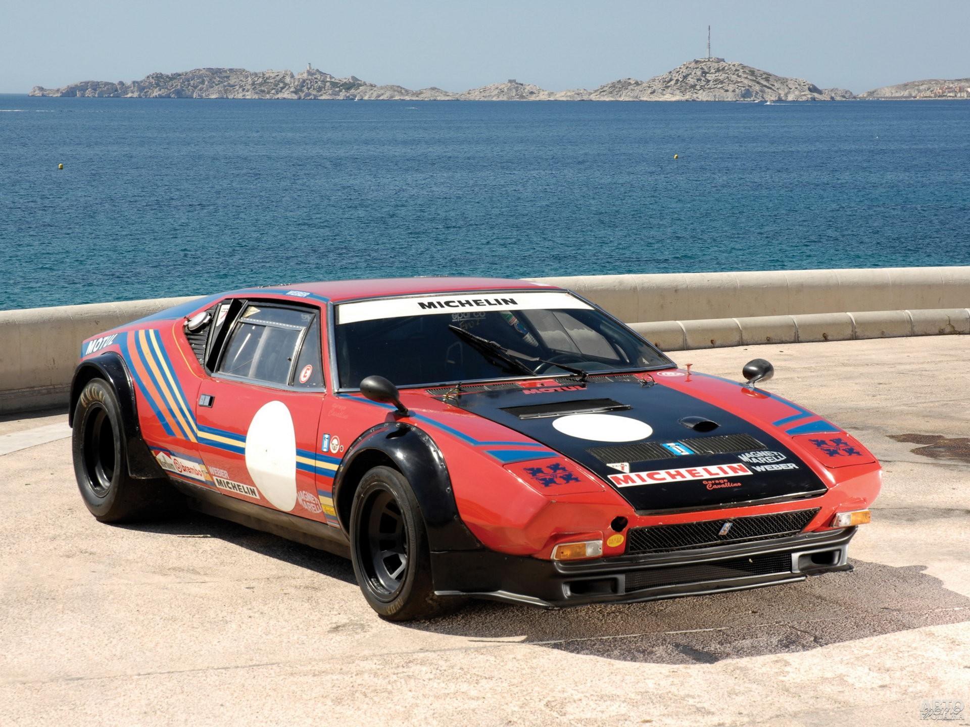 Гоночный 500-сильный De Tomaso Pantera Gr.4, 1973 год
