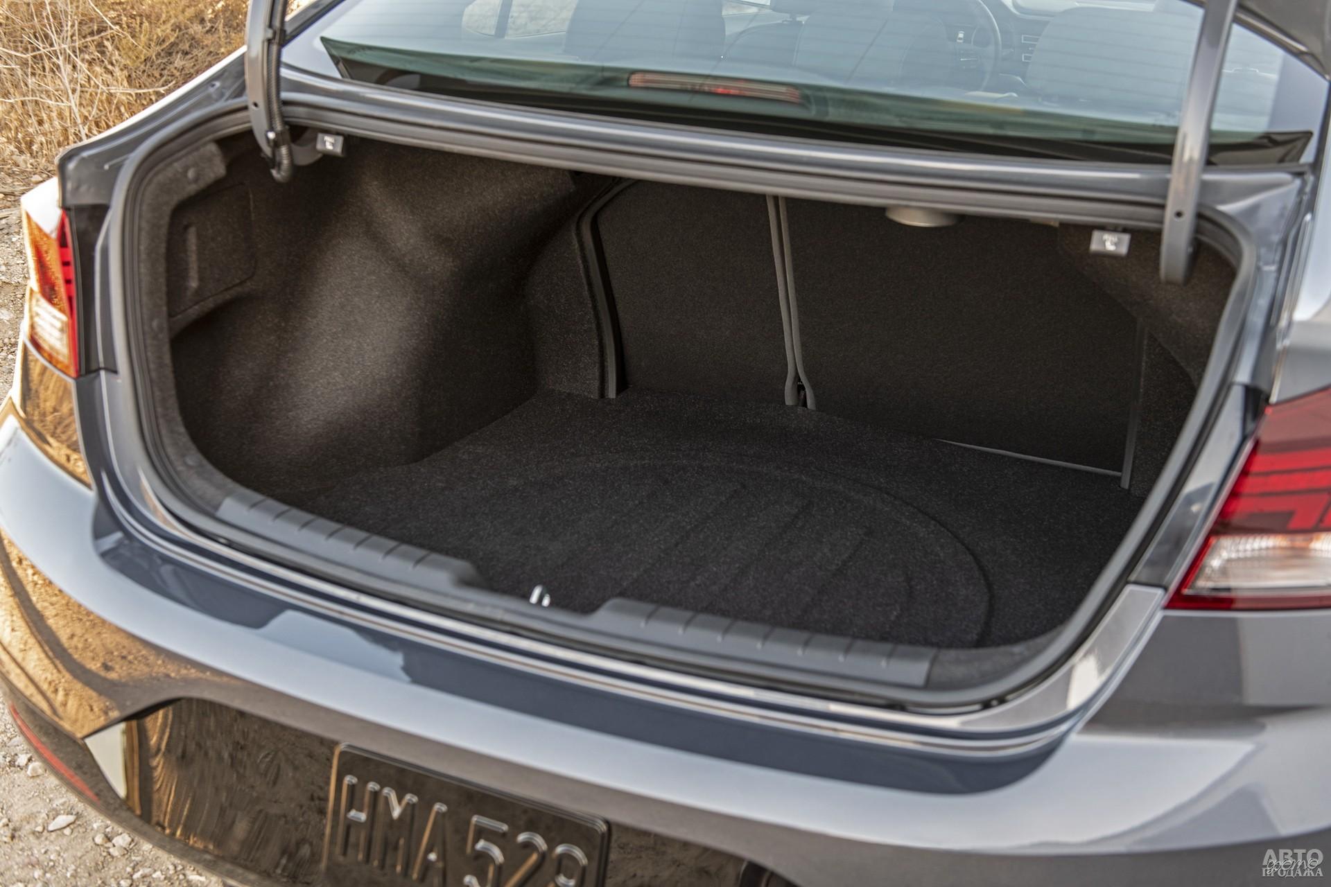 Объем багажника Hyundаi – 458 л