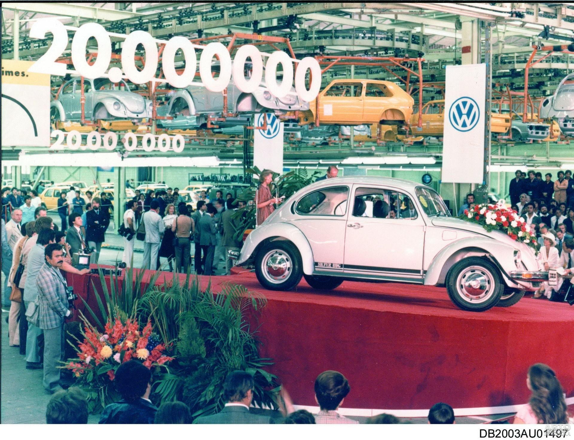 Выпуск 20-миллионно Vоlkswagen Beetle