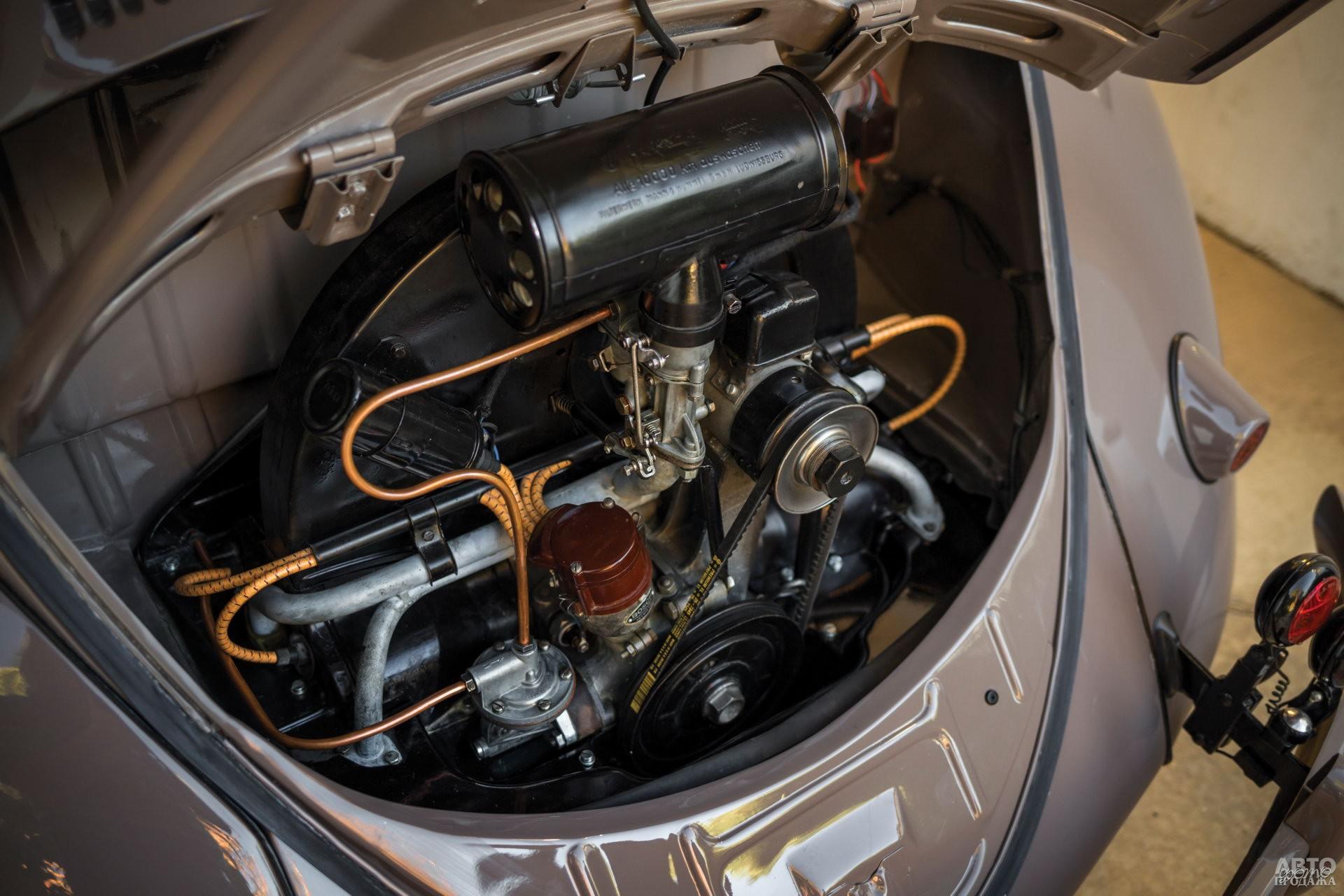 Оппозитный двигатель имел воздушное охлаждение