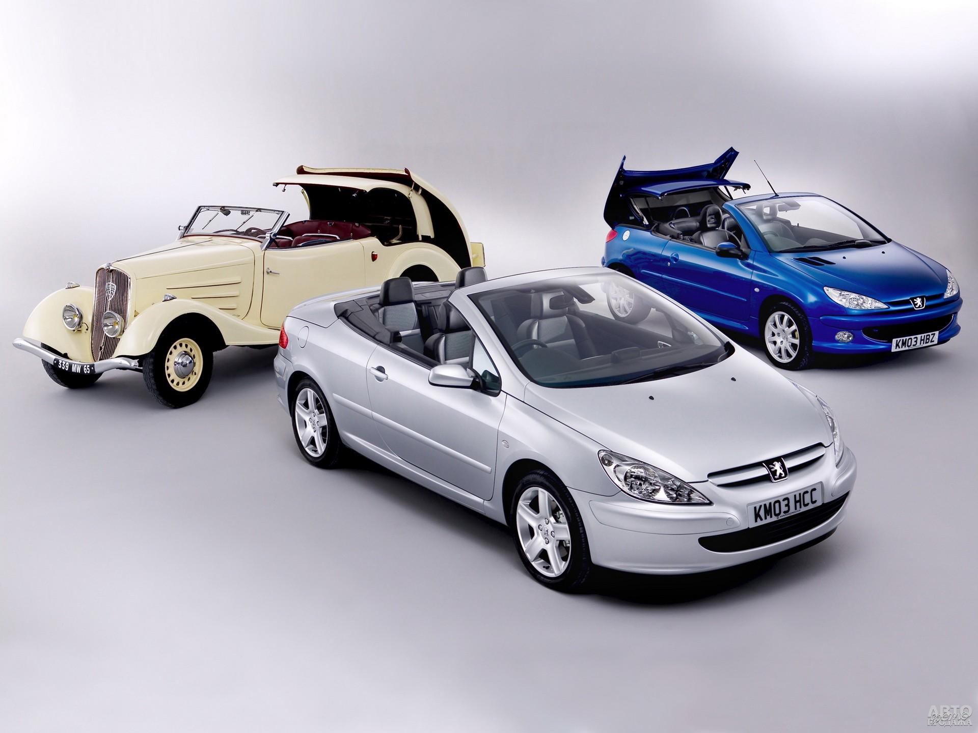 Peugeot 401, 206 CC и 307 CC