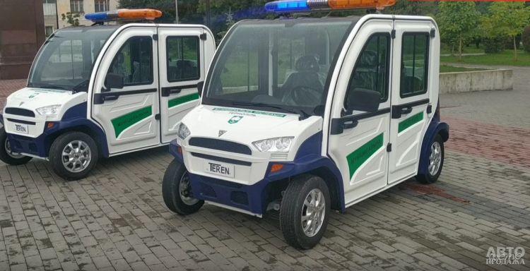В Украине появились первые патрульные электромобили