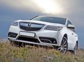 Фирменный «клюв» Acura MDX сочетается со светодиодными фарами