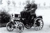 Братья Опель на своём собственном самодвижущемся экипаже Lutzman Opel