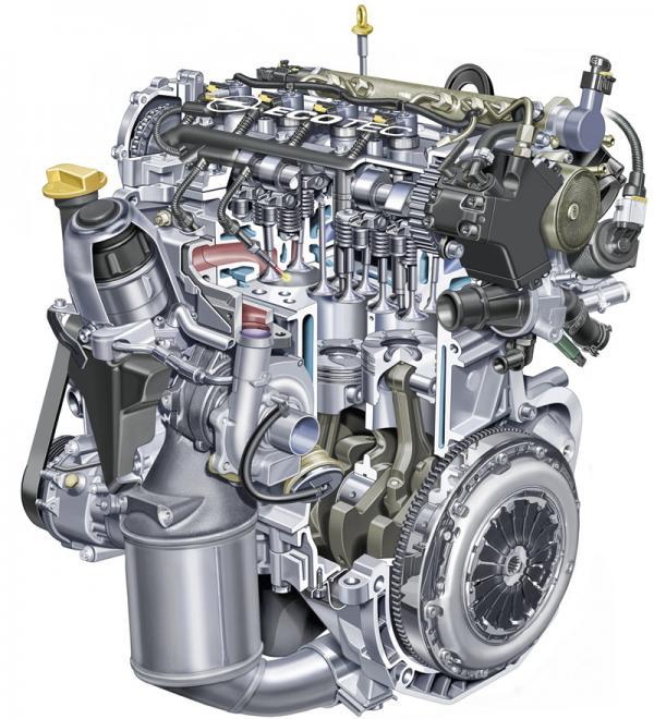 Бензиново-дизельный двигатель