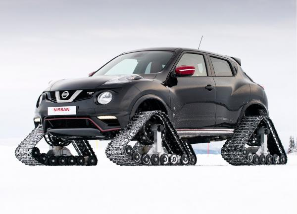Nissan Juke превратили в снегоход
