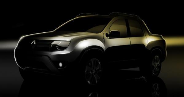 Renault показал тизеры пикапа Sport Utility