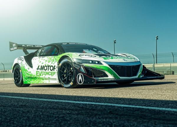 Электрический Acura NSX для горной гонки Pikes Peak