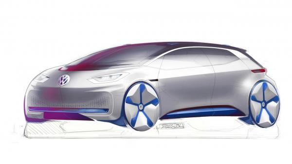Первый серийный электромобиль Volkswagen покажут в Париже