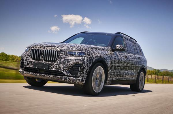 Новый BMW X7 засняли во время испытаний