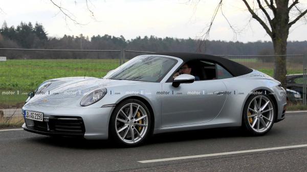 Первые фото нового кабриолета Porsche 911