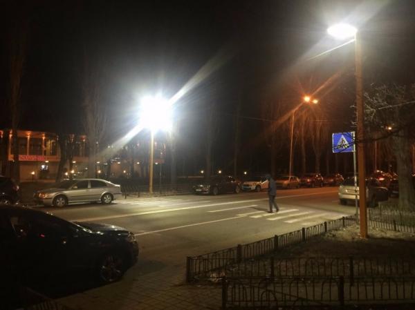 В Киеве появились инновационные пешеходные переходы
