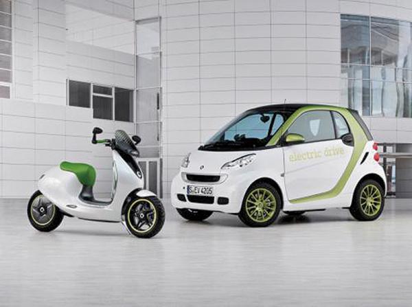 Smart представил зеленый скутер