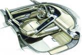 Наклоненная центральная консоль – черта, позаимствованная у Porsche Carrera GT