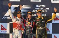 Подиум Гран-при Австралии - 2011
