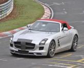 Mercedes-Benz SLS AMG Roadster замечен без камуфляжа