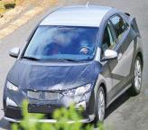 Honda Civic 2012 года проходит предсерийные тесты