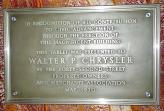"""Памятный знак в """"Крайслер-билдинг"""" в благодарность Крайслеру """"за финансирование этого величественного строения"""""""