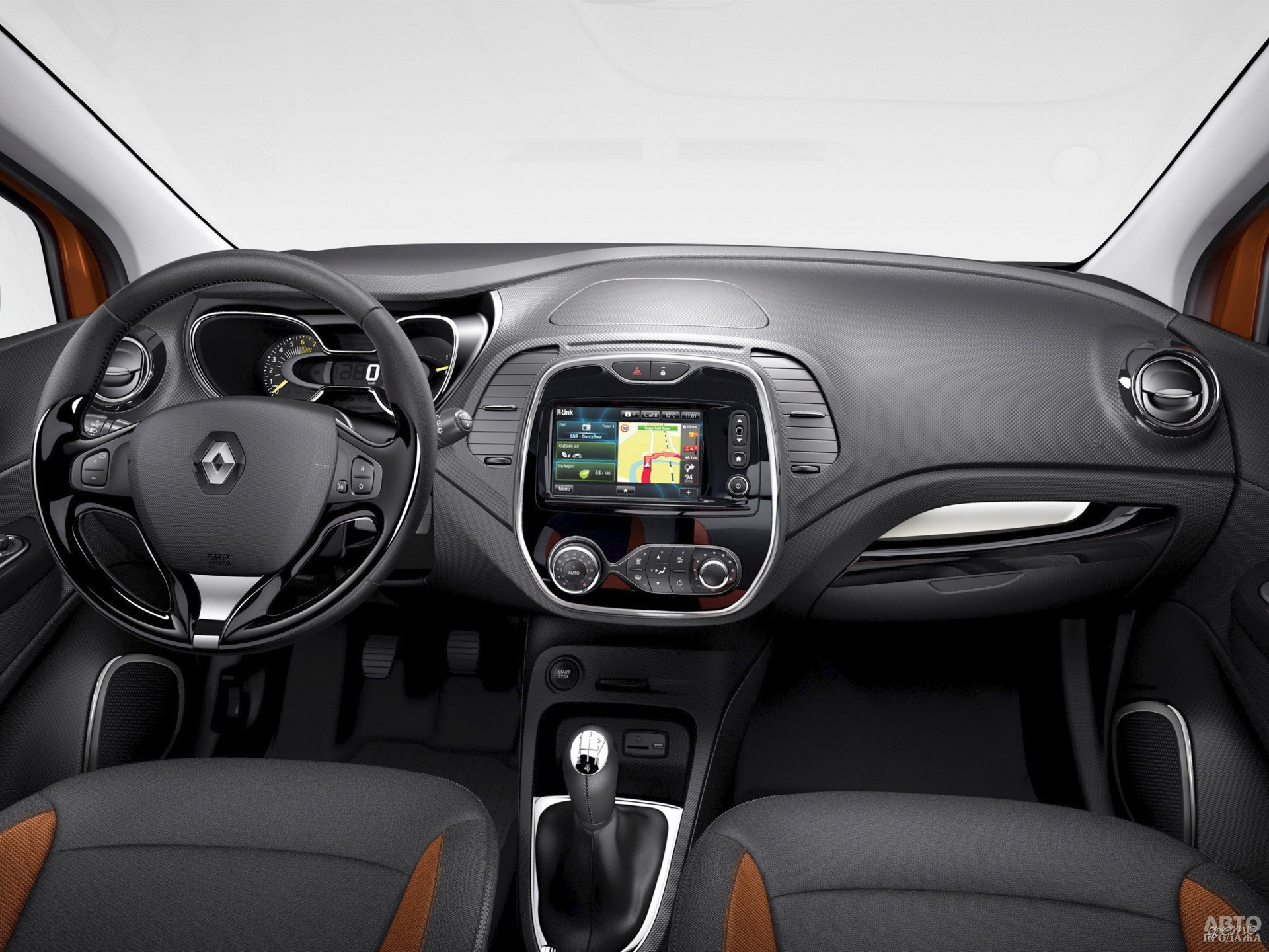 Цифровой спидометр Renault сочетается с аналоговым тахометром