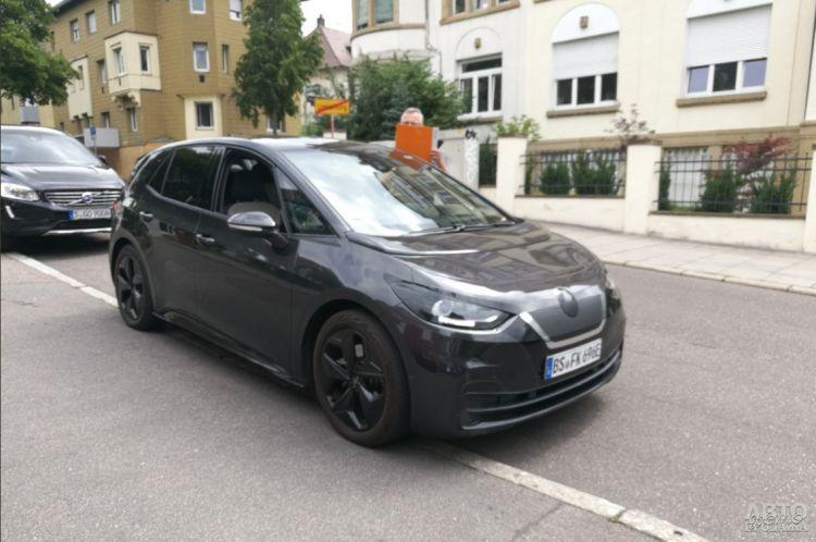 Электромобиль Volkswagen засняли во время тестов