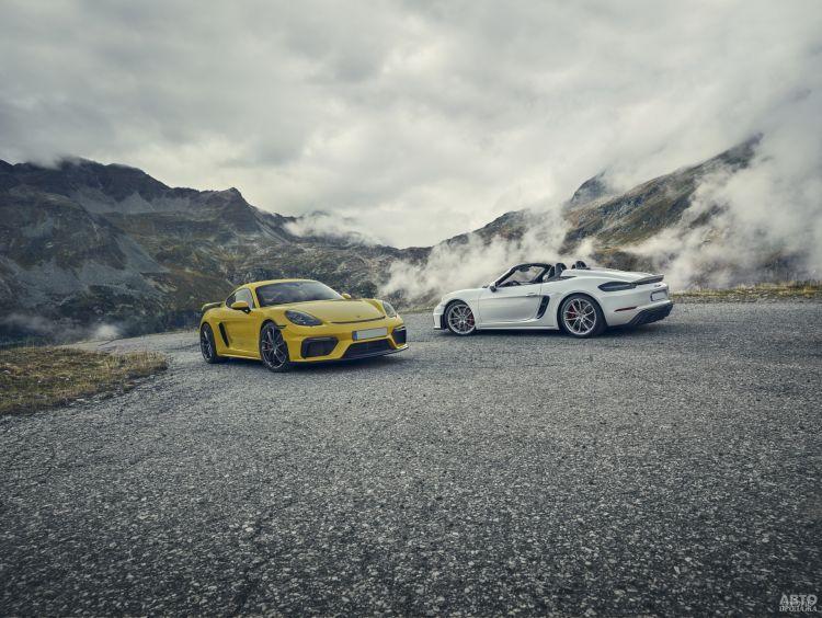 Porsche 718 Cayman GT4 и Boxster Spyder: последние из могикан