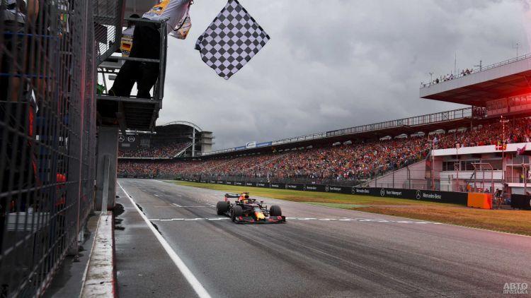 Формула-1: Ферстаппен вырывает победу в Германии