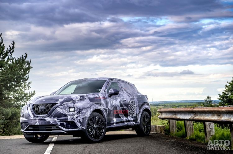 Новый Nissan Juke засняли перед премьерой