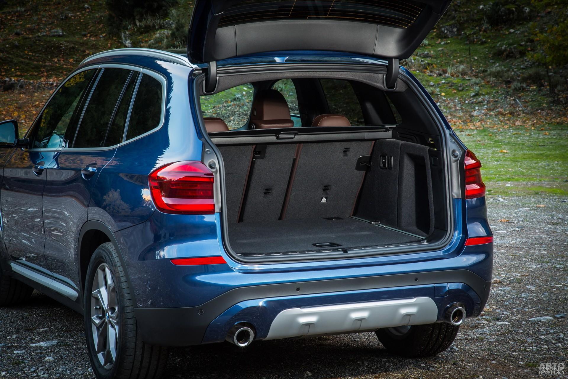 Объем багажника BMW – 550 л