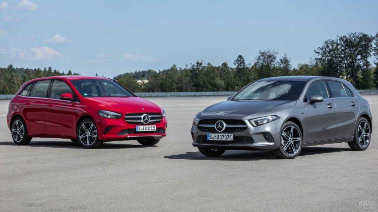 Mercedes-Benz A-Class и B-Class стали гибридами