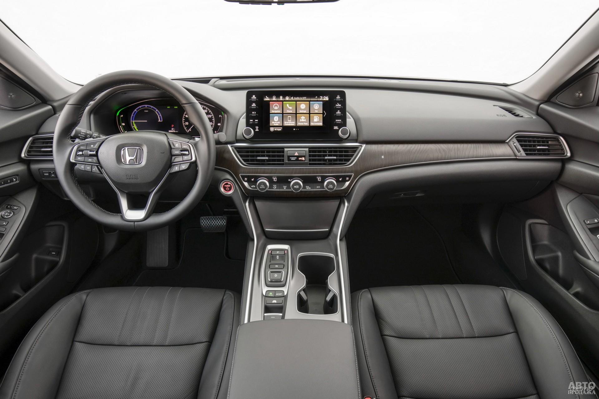 Вместо рычага трансмиссии у Honda кнопки