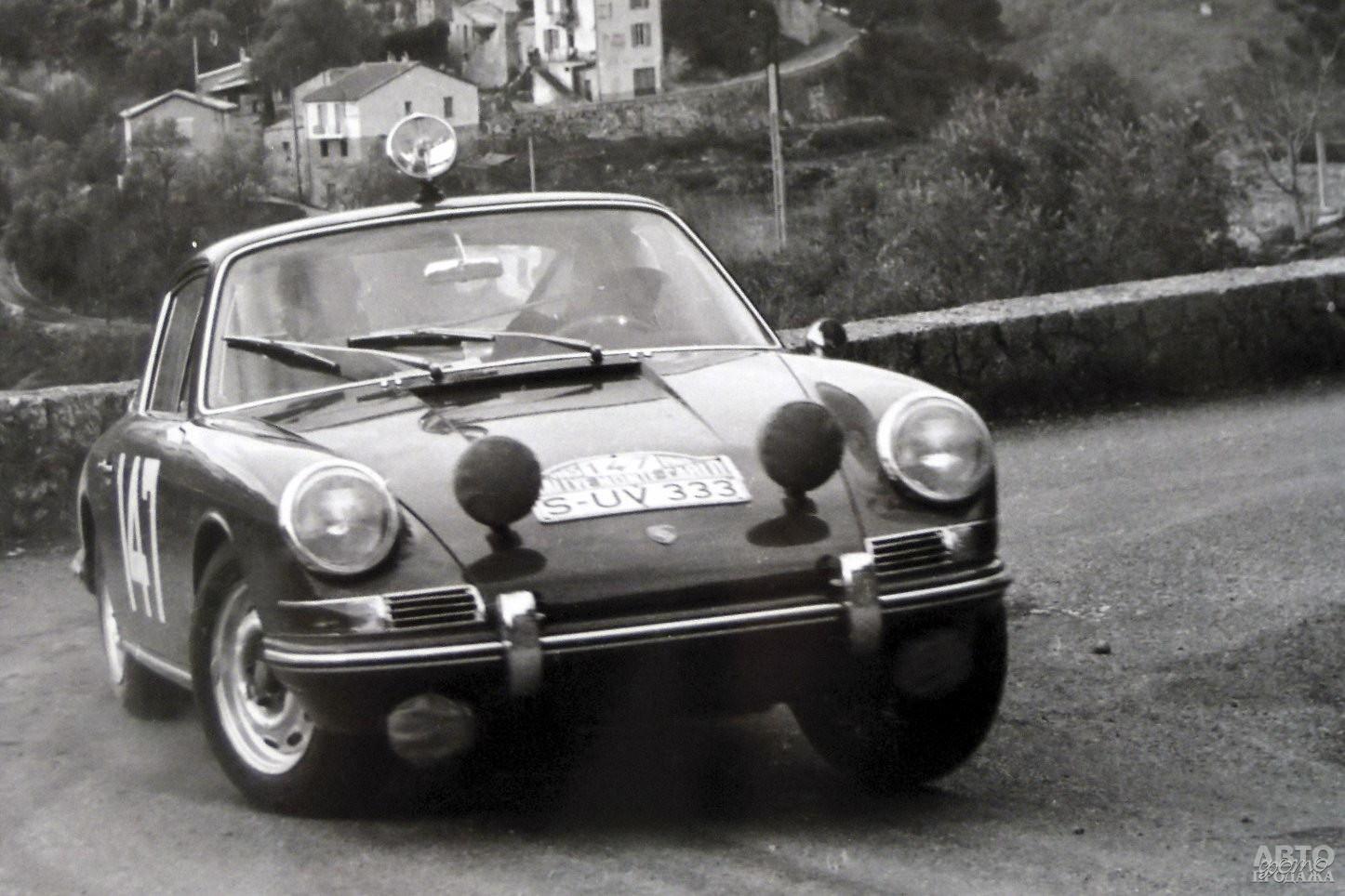 В 1968-1970 годах 911 не знал равных в ралли Монте-Карло