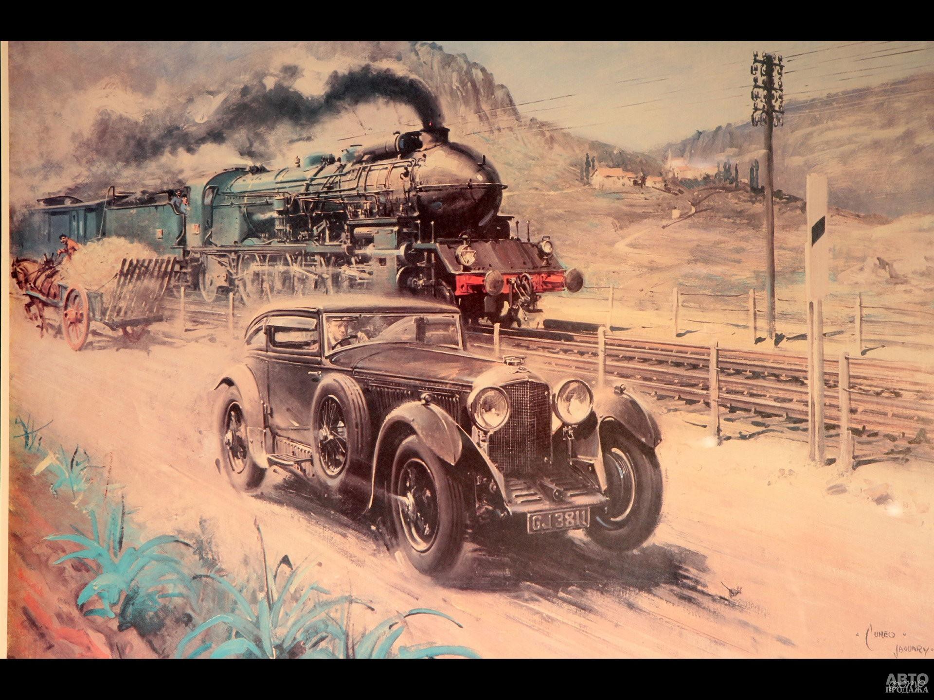 Вольф Барнато на Bentley Speed Six обогнал скоростной экспресс Blue Train