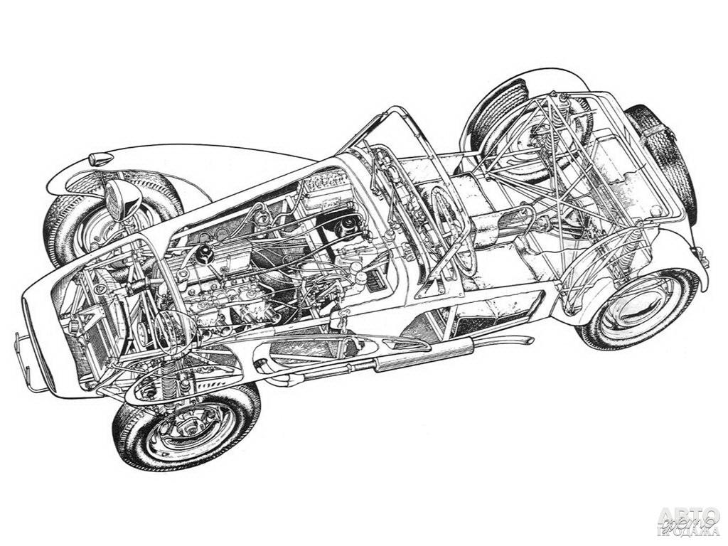 В основе автомобиля лежала легкая трубчатая рама