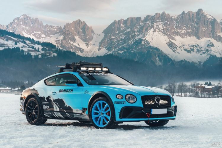 Bentley Continental GT Ice Race: зимний вариант