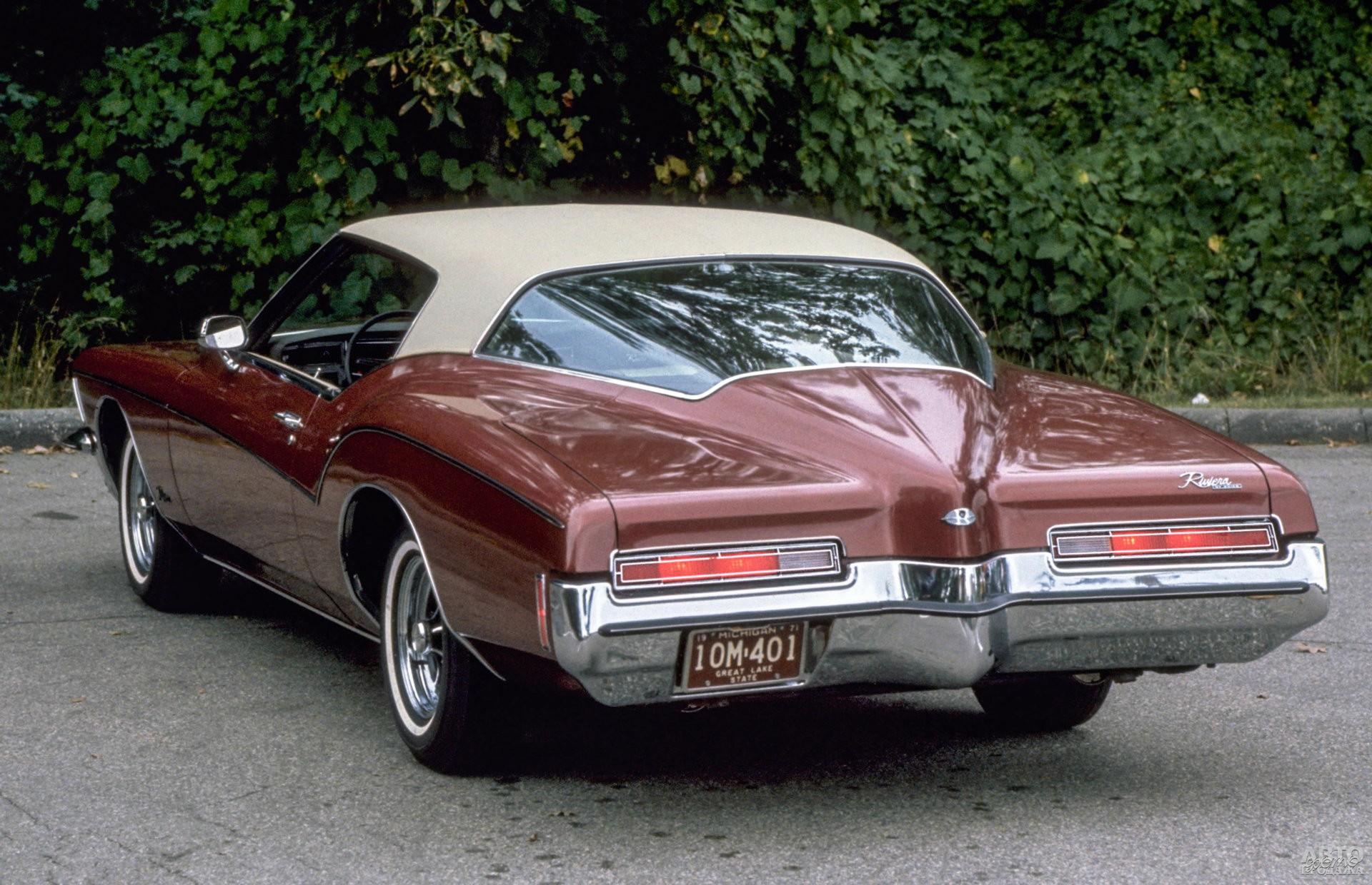 Зауженная задняя часть – черта Buick Riviera 1971 года