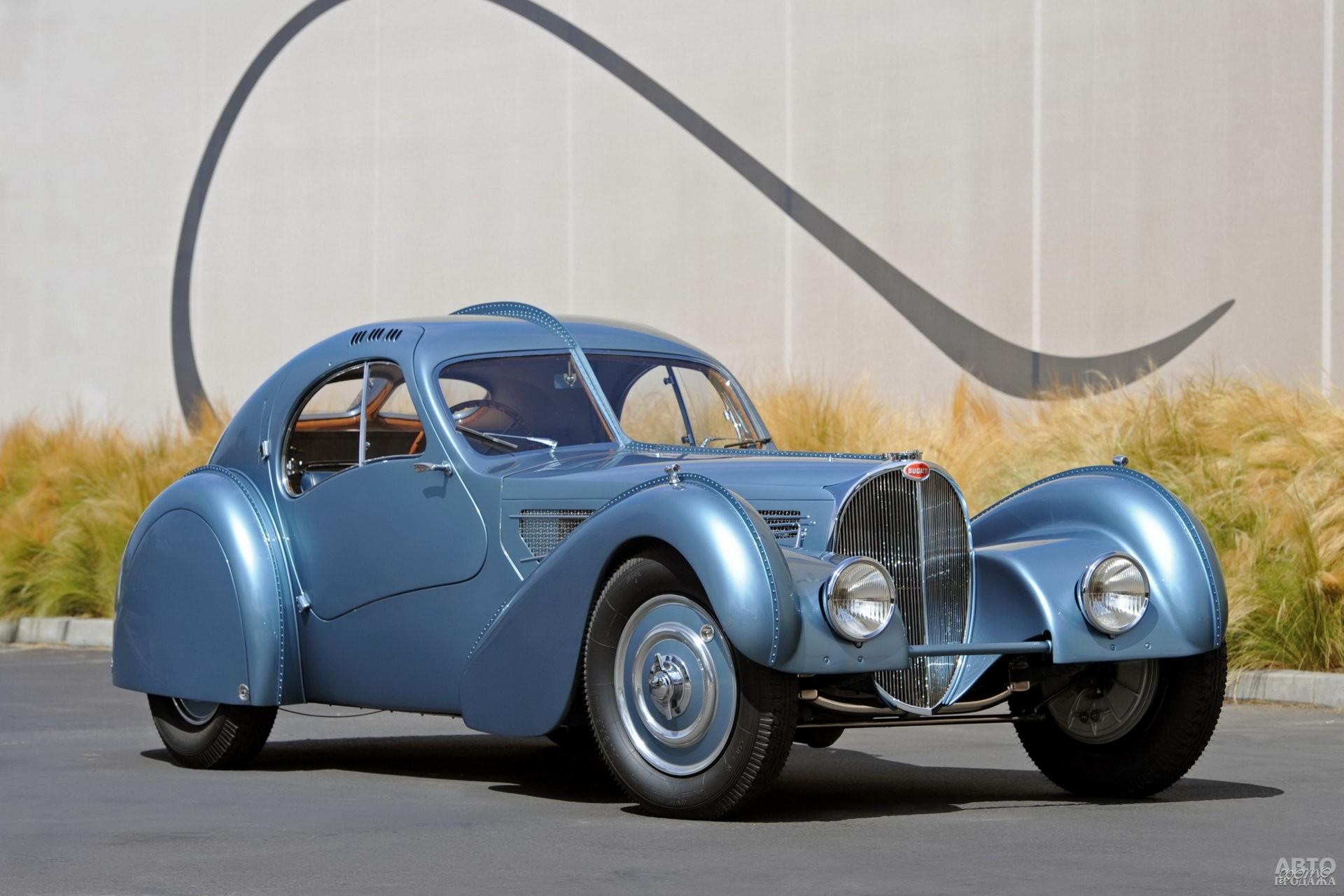 Bugatti Type 57SC Atlantic 1936 года – шедевр Жана Бугатти