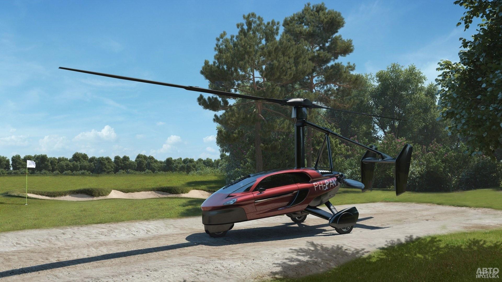 PAL-V легко трансформируется в вертолет