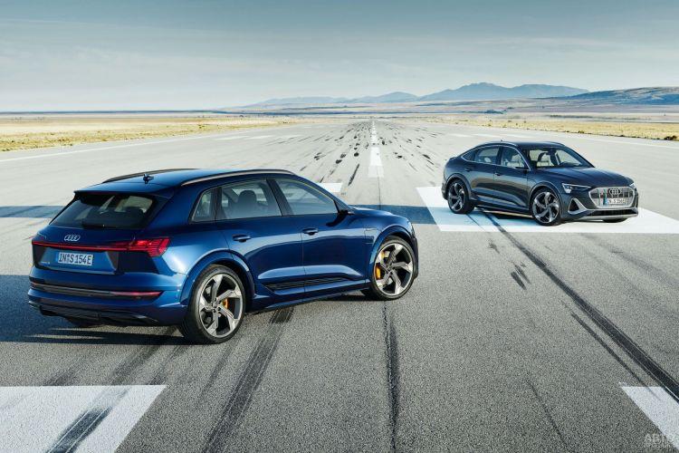 Электромобиль Audi e-tron получил прибавку в мощности