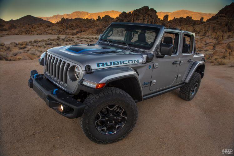 Jeep Wrangler получил гибридную версию