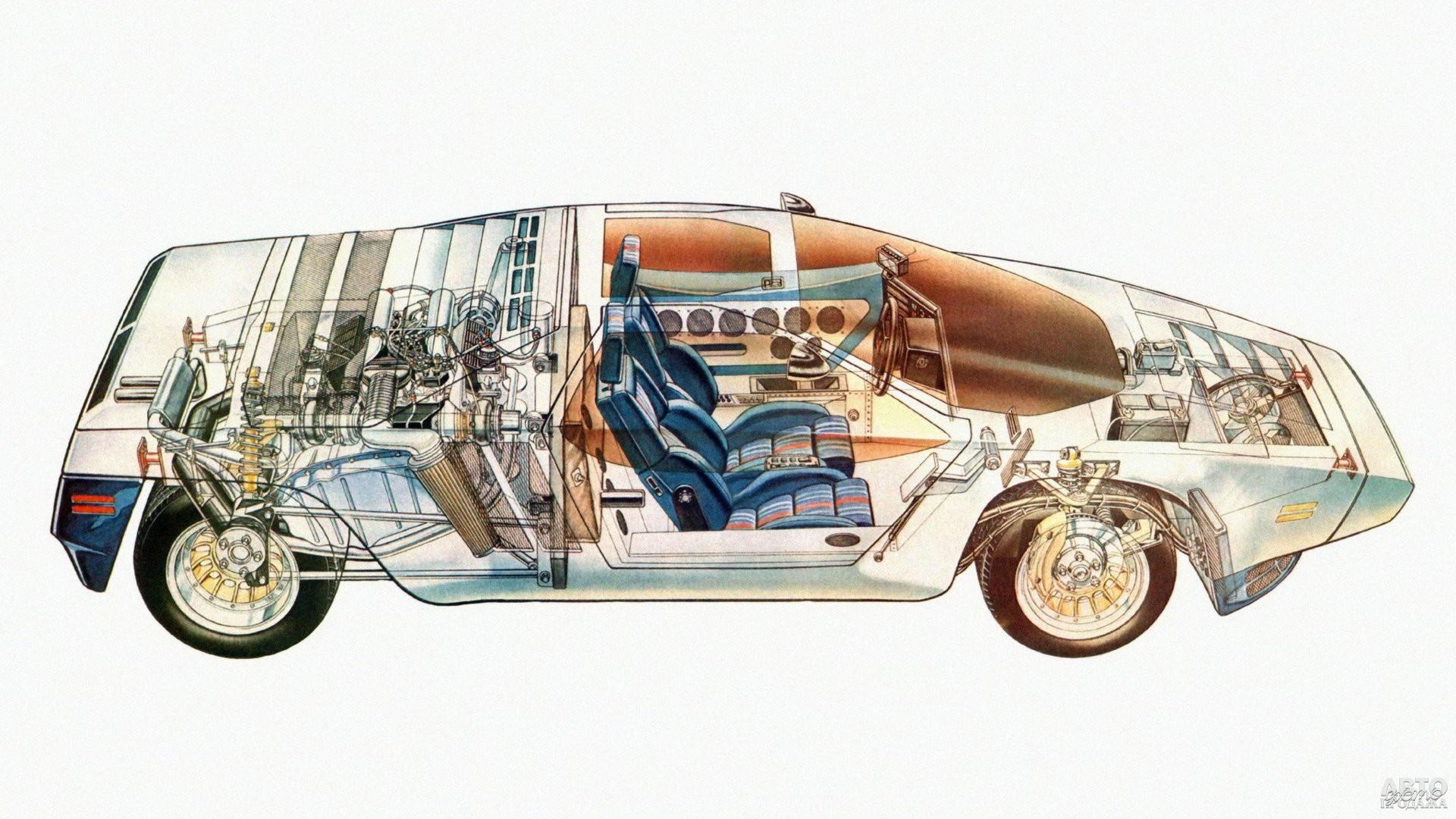 V8 с двойным турбонаддувом размещен поперечно в базе