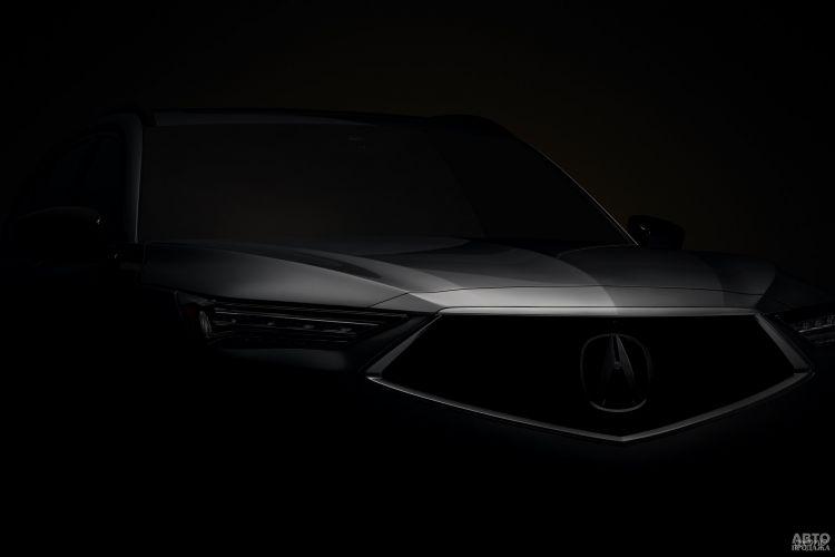 Первые фото новой Acura MDX