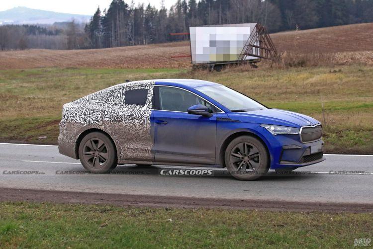 Новый электромобиль Skoda засняли на тестах