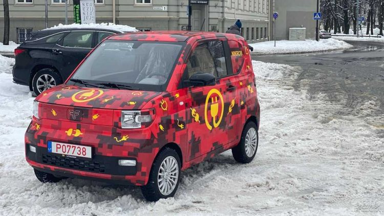 Представлен первый латвийский электромобиль